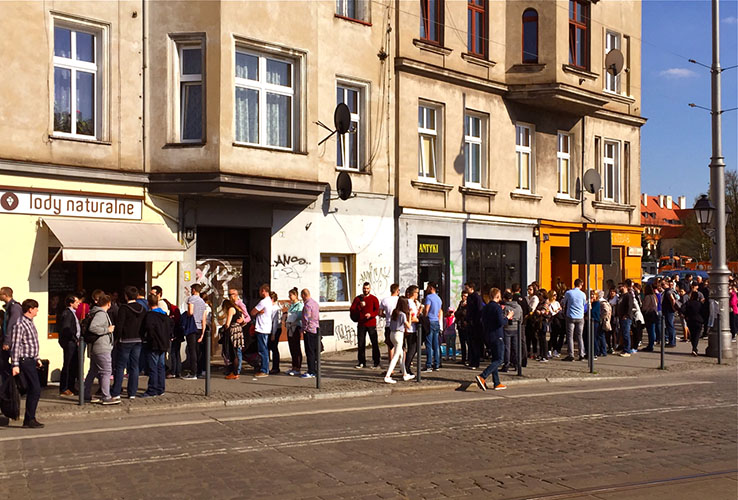11 The ice cream queue, Wroclaw