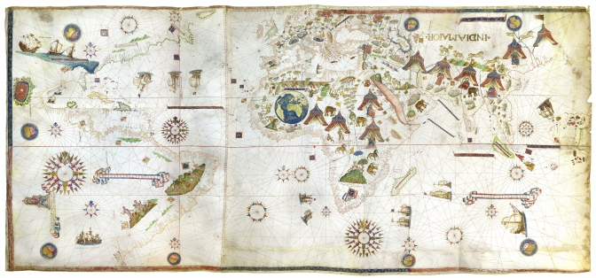Sales at tefaf confirm upward trend albert ehrnrooth the vesconte maggiolo planisphere and world map is yours for a cool 10 million at daniel crouch rare books gumiabroncs Choice Image