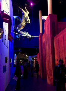 The inflatable teacher from Roger Water's tour of 'The Wall' is among art for the Pink Floyd exhibition 'Their Mortal Remains' at the V&A.