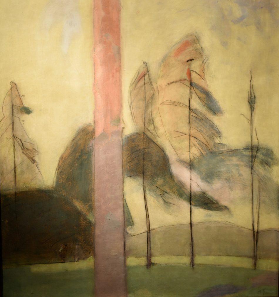 Landskap och tallar, ett landskap från Hyvinge (1914), Helene Schjerfbeck, photo:Albert ehrnrooth