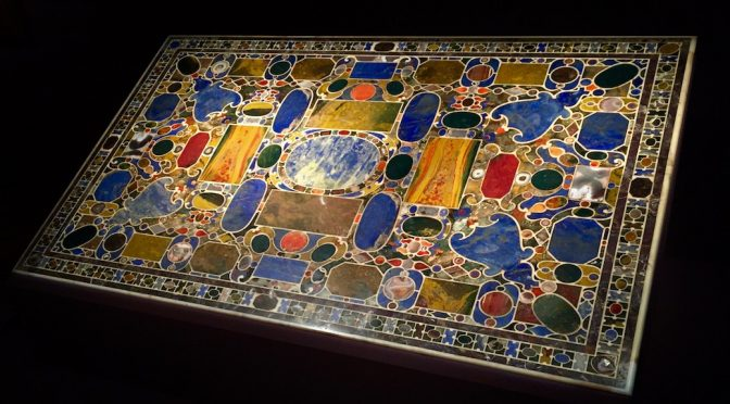 Medici and Westminster Pietre Dure Tabletop designed by Giorgio Vasari at Robiland + Voena gallery, photo:Albert