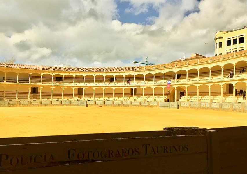 Bullfighting arena Ronda - Ronda Photos - mountaintop city in Spain's Malaga province.
