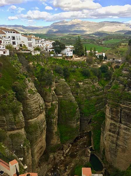 Tajo Gorge near Ronda, a mountaintop city in Spain's Malaga province.