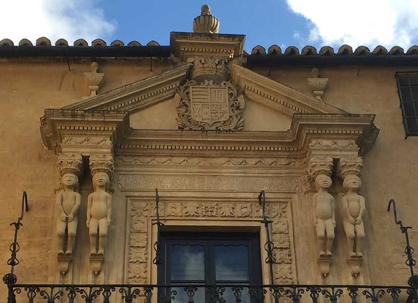 Adam and Eve frieze on Palacio portal. Ronda Photos - mountaintop city in Spain's Malaga province.